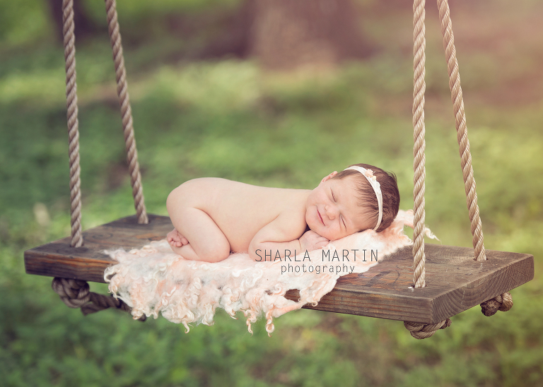 Newborn Photography Outside