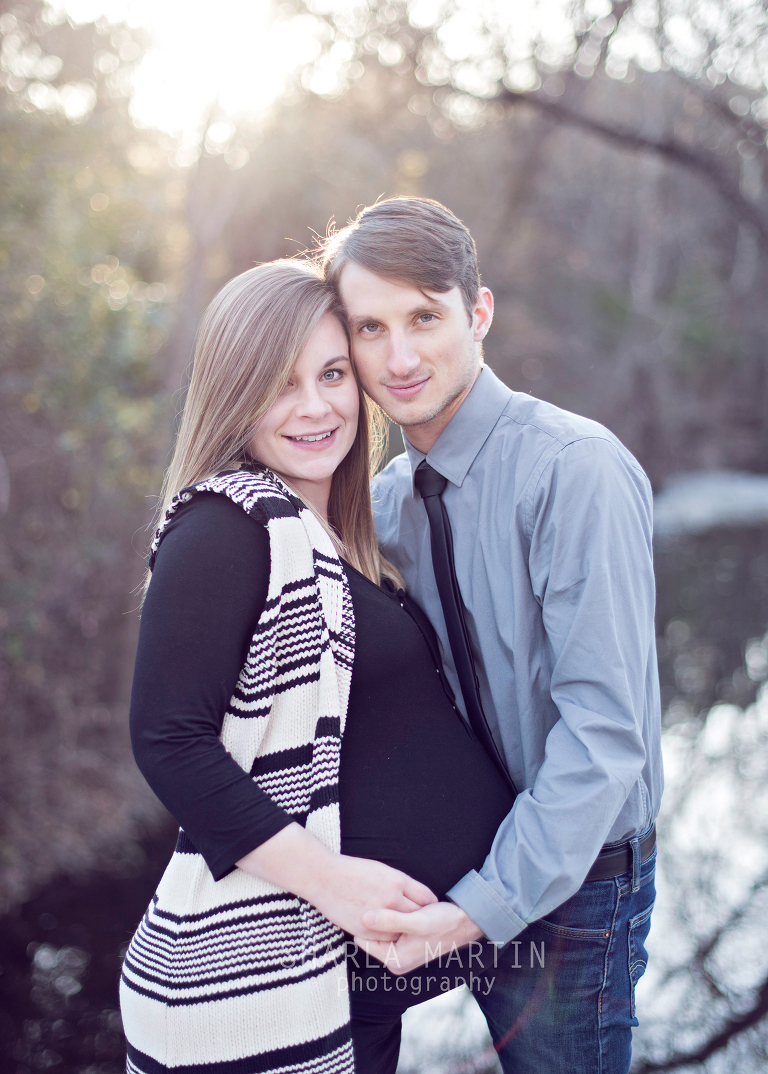 Beautiful couple maternity photo twins