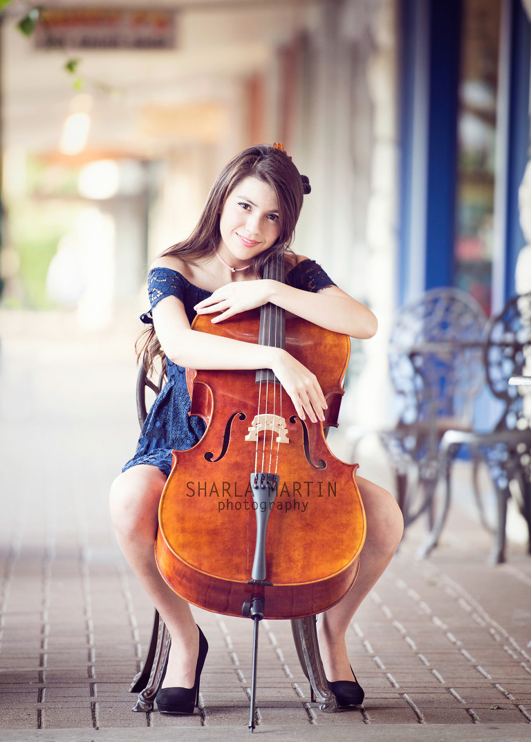 Austin Senior Photography with Cello