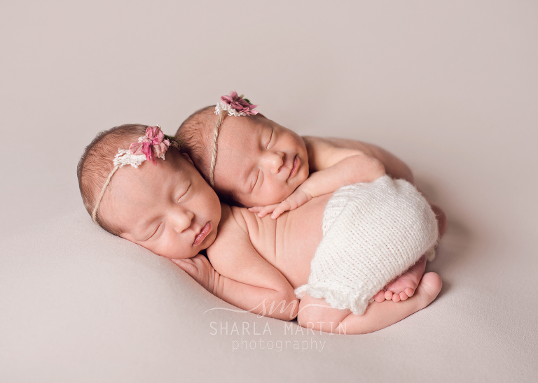 newborn twin photography austin