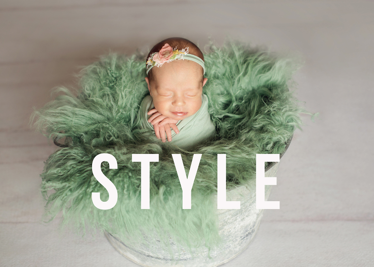 Newborn Photographer Styled Session