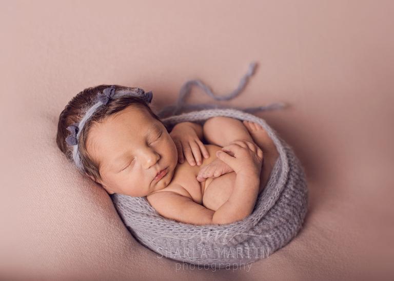 wrapped newborn image
