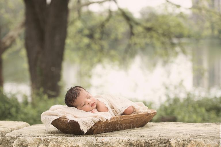 austin newborn outdoor session